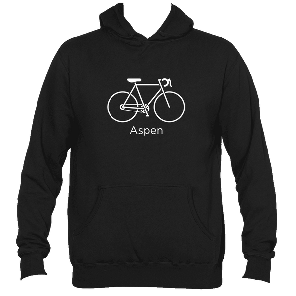 Aspen, Colorado Bicycle - Men's Hooded Sweatshirt/Hoodie