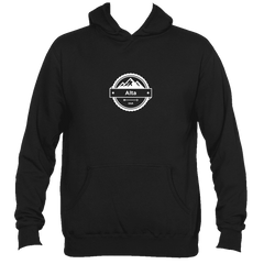 Alta, Utah Circle Three Peak - Men's Hooded Sweatshirt/Hoodie