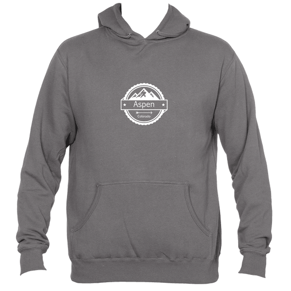 Aspen, Colorado Circle Three Peak - Men's Hooded Sweatshirt/Hoodie