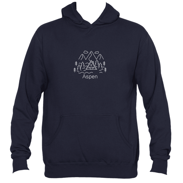 Aspen, Colorado Mountains and Clouds - Men's Hooded Sweatshirt/Hoodie