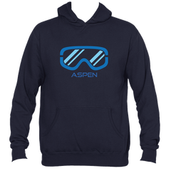 Aspen, Colorado Snowboard & Ski Goggles - Men's Hooded Sweatshirt/Hoodie