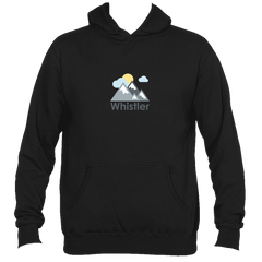 Whistler, Canada Mountains and Clouds in Color - Men's Hooded Sweatshirt/Hoodie