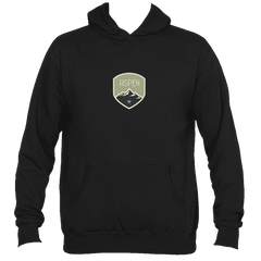 Aspen, Colorado Mountaineering Badge - Men's Hooded Sweatshirt/Hoodie