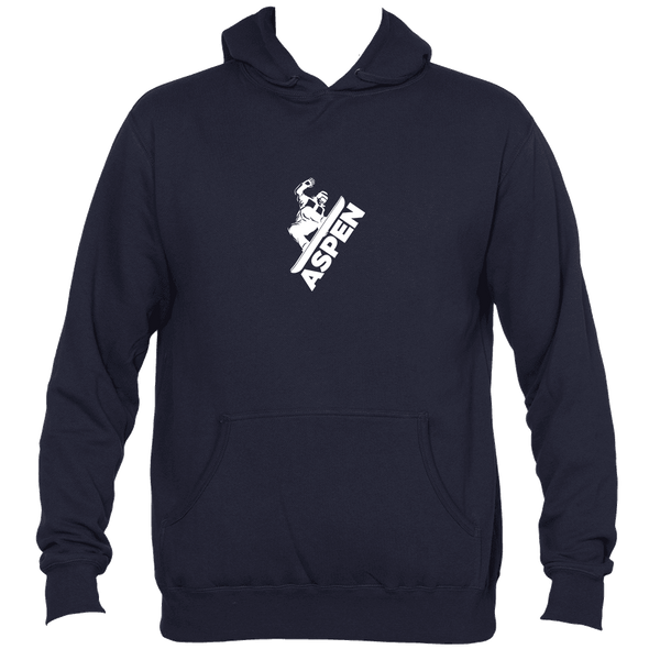 Aspen, Colorado Snowboarding - Men's Hooded Sweatshirt/Hoodie