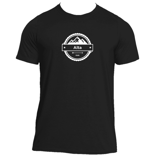 Alta, Utah Circle Three Peak - Men's Moisture Wicking T-Shirt