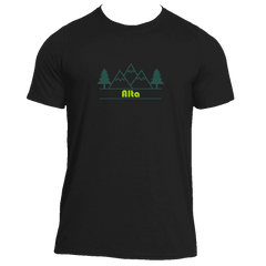 Alta, Utah Mountain & Trees in Green - Men's Moisture Wicking T-Shirt
