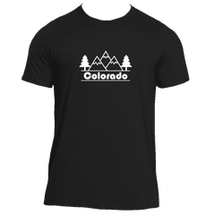 Colorado Mountain & Trees - Men's Moisture Wicking T-Shirt