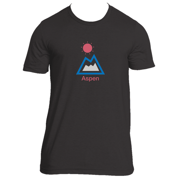 Aspen, Colorado Mountain & Sun - Men's T-Shirt