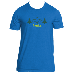 Alaska Mountain & Trees in Green - Men's T-Shirt