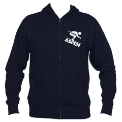 Aspen, Colorado Downhill Snow Skiing - Men's Full-Zip Hooded Sweatshirt/Hoodie