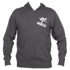 Breck Breckenridge, Colorado Downhill Snow Skiing - Men's Full-Zip Hooded Sweatshirt/Hoodie