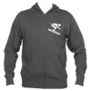 Breckenridge, Colorado Downhill Snow Skiing - Men's Full-Zip Hooded Sweatshirt/Hoodie
