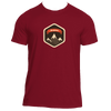 Aspen, Colorado Mountain Badge - Men's Moisture Wicking T-Shirt