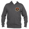 Aspen, Colorado Mountain Badge - Men's Full-Zip Hooded Sweatshirt/Hoodie