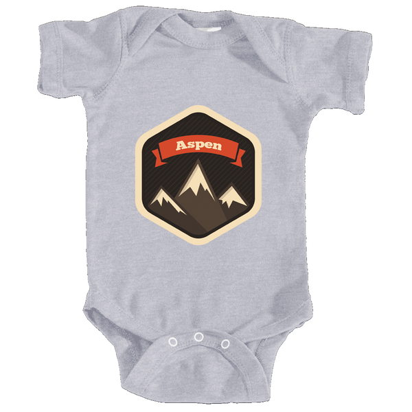 Aspen, Colorado Mountain Badge - Infant Onesie/Bodysuit