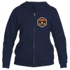 Aspen, Colorado Mountain Badge - Women's Full-Zip Hooded Sweatshirt/Hoodie