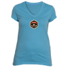Aspen, Colorado Mountain Badge - Women's V-Neck T-Shirt