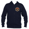 Beaver Creek, Colorado Mountain Badge - Men's Full-Zip Hooded Sweatshirt/Hoodie