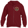 Breckenridge, Colorado Mountain Badge - Men's Full-Zip Hooded Sweatshirt/Hoodie