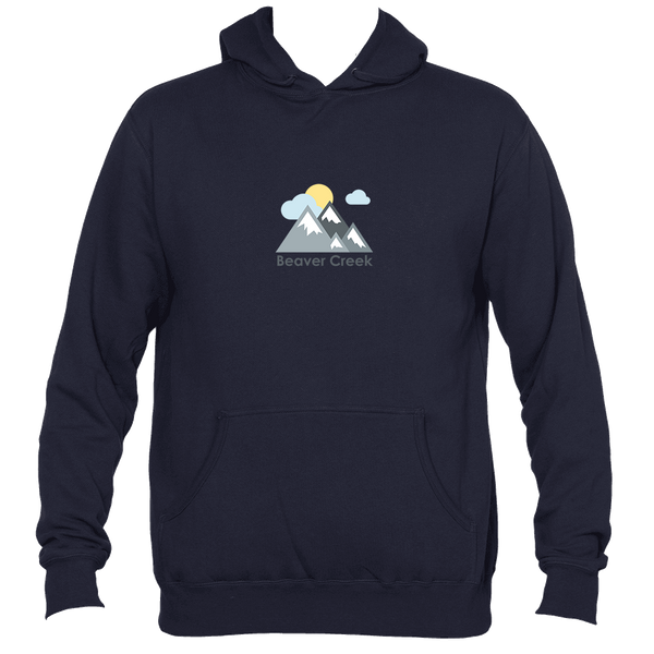 Beaver Creek, Colorado Mountains and Clouds in Color - Men's Hooded Sweatshirt/Hoodie