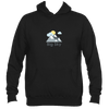 Big Sky, Montana Mountains and Clouds in Color - Men's Hooded Sweatshirt/Hoodie