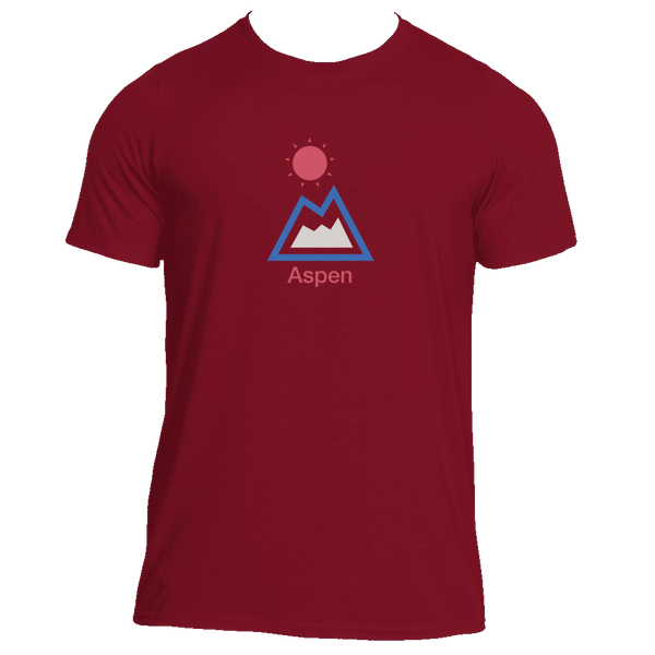 Aspen, Colorado Mountain & Sun - Men's Moisture Wicking T-Shirt
