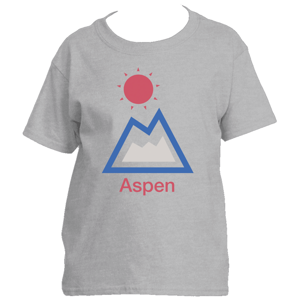 Aspen, Colorado Mountain & Sun - Youth/Kid's T-Shirt