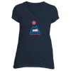 Breckenridge, Colorado Mountain & Sun - Women's V-Neck T-Shirt