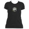 Aspen, Colorado Mountain & Trees Badge - Women's Moisture Wicking T-Shirt