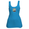 Aspen, Colorado Mountain & Trees Badge - Women's Tank Top