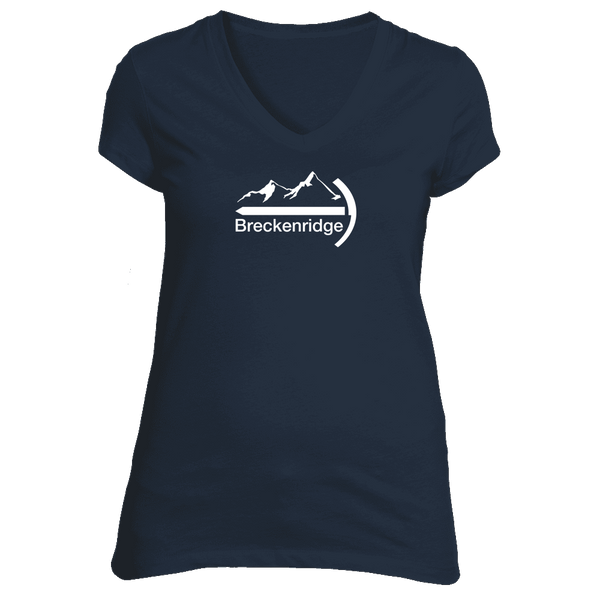 Breckenridge, Colorado Mountaineer - Women's V-Neck T-Shirt