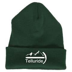 Telluride, Colorado Mountaineer - Embroidered Knit Beanie