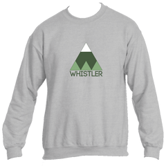 Whistler BC Minimal Mountain - Canada Men's Fleece Crew Sweatshirt