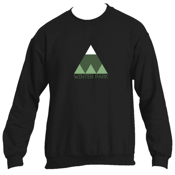 Winter Park Minimal Mountain - Colorado Men's Fleece Crew Sweatshirt