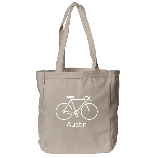 Austin, Texas Bike - Organic Tote Bag