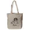 Aspen, Colorado Mountain & Sunset Hand Drawn - Organic Tote Bag