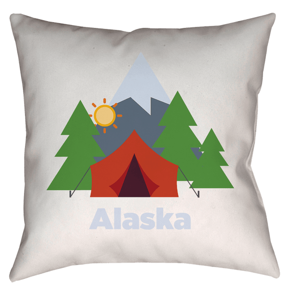 Alaska Camping Forest - Throw Pillow