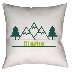 Alaska Forest and Trees - Throw Pillow