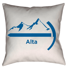 Alta Utah Mountaineer Hiking - Throw Pillow