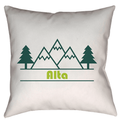 Alta, Utah Forest and Trees - Throw Pillow