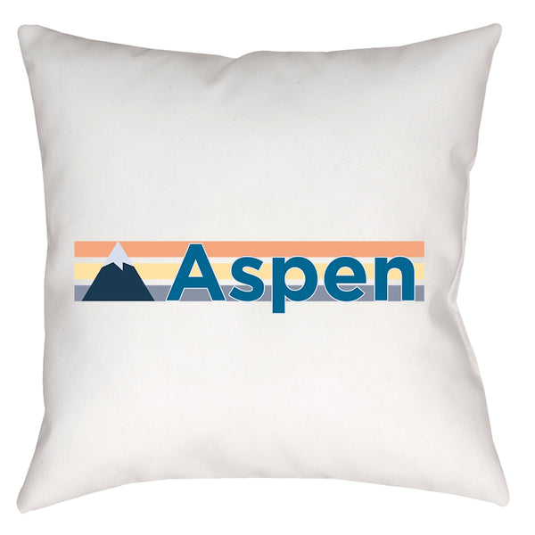 Pillow - Aspen, Colorado Mountain Stripe - Throw Pillow