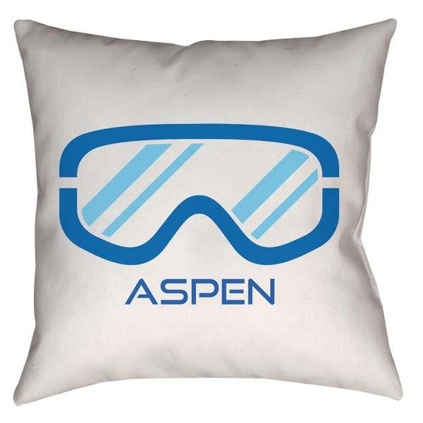 Aspen, Colorado Snowboard & Ski Goggles - Throw Pillow