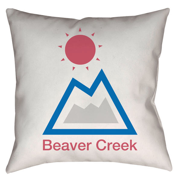 Beaver Creek, Colorado Mountain & Sun - Throw Pillow