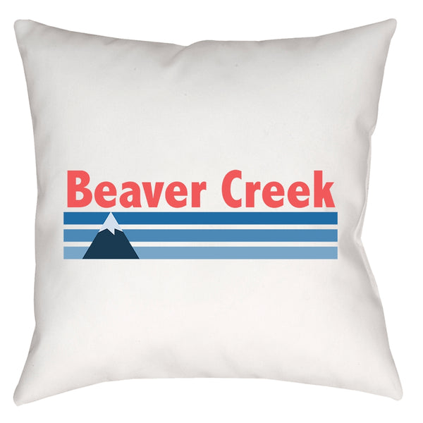Pillow - Beaver Creek, Colorado Vintage Mountain - Throw Pillow