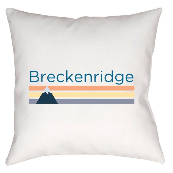 Pillow - Breckenridge, Colorado Mountain Stripe - Throw Pillow