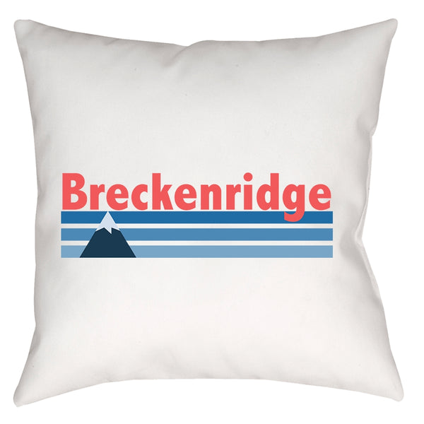 Breckenridge, Colorado Vintage Mountain - Throw Pillow