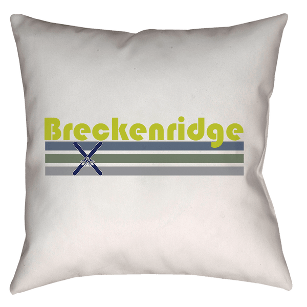 Breckenridge, Colorado Retro Crossed Skis - Throw Pillow