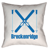 Breckenridge, Colorado Snow Skis - Throw Pillow