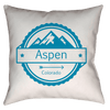 Aspen, Colorado Three Peak Mountain - Throw Pillow