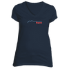 Aspen, Colorado Retro Mountain Pulse - Women's V-Neck T-Shirt